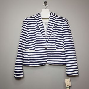 Sharagano blue and white stripe blazer NWT Size 16